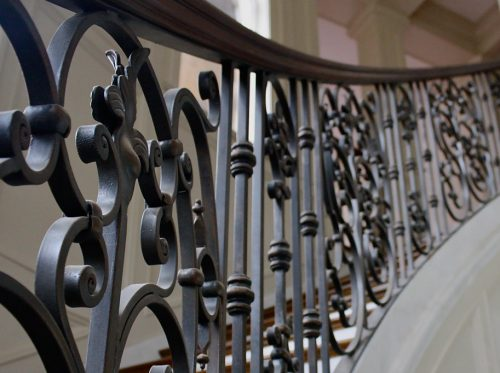 Steel Railing Interior Stairs