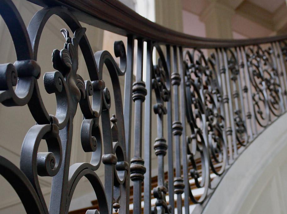 Steel Railing Interior Stairs