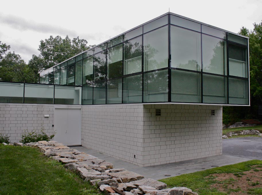 Glass Cantilever Residence