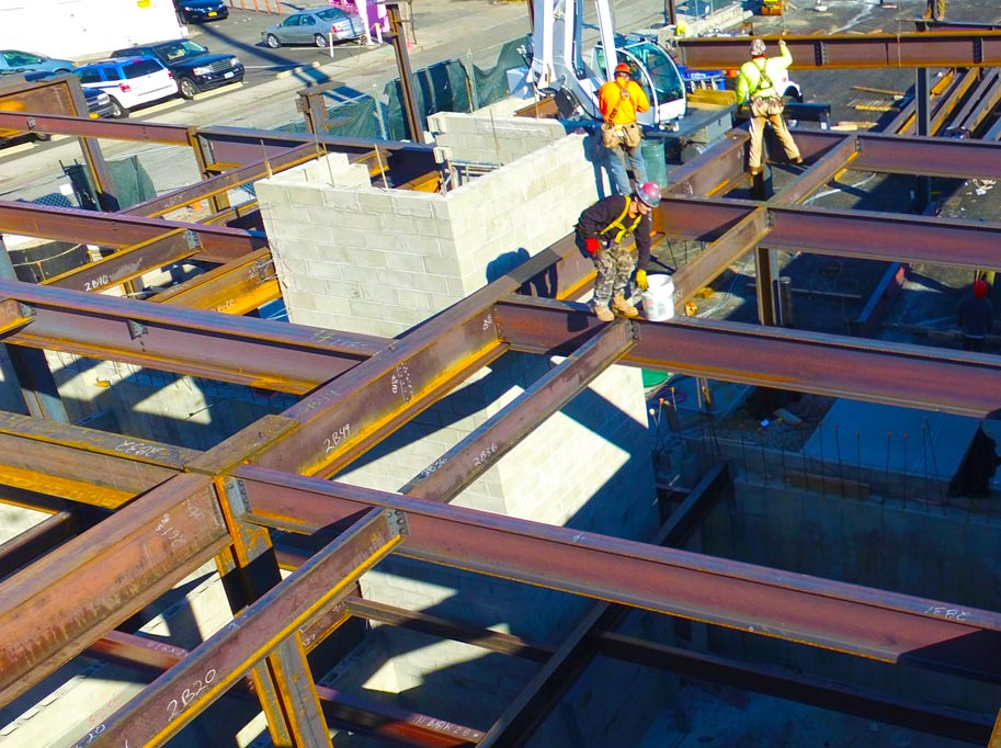 Steel Workers on Beams
