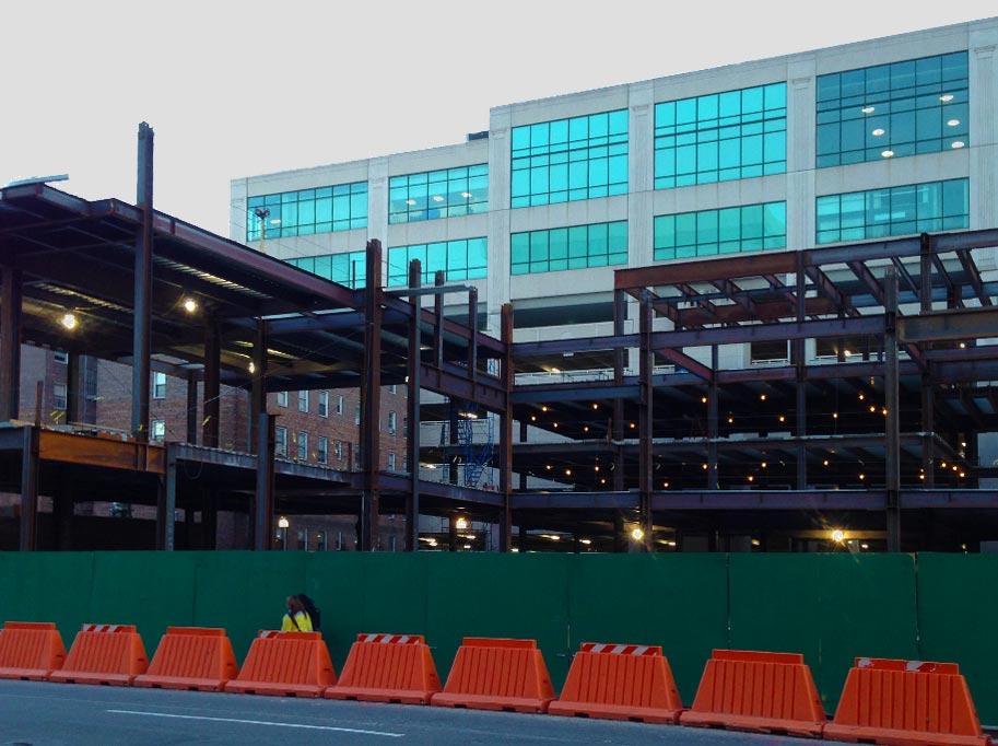New Building Steel Framework